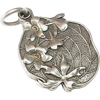 Stunning Antique Art Nouveau Silver 900 Slide Locket Pendant