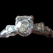 Great Price: Diamond and Platinum vintage engagement RING