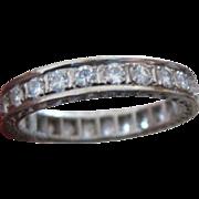 Ladies diamond 18k Eternity Wedding Band 1.20 carat
