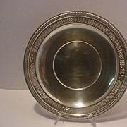 Vintage  Round  Pierced  Sterling Silver Plate