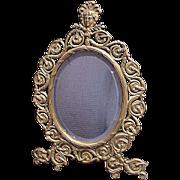 Arch Table Top Bronze Mirror Circa 1900