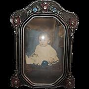 Art Deco Convex Glass Picture Frame