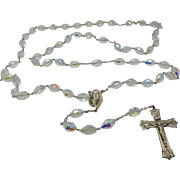 Large Beaded Sterling Silver Aurora Borealis Rosary