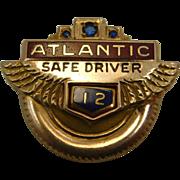 Atlantic Safe Driver Award 10K Gold  Pin