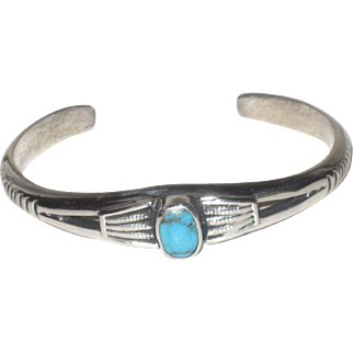 REDUCED Sterling Silver & Turquoise Cuff Bracelet