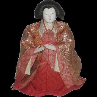 Vintage Japanese Geisha Doll with Glass Eyes
