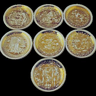 7 Fornasetti Mitologia Coasters Bonwit Teller