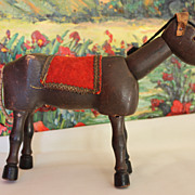 SALE Schoenhut Wood Circus Donkey, Glass Eyes 1930's
