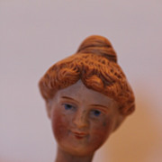 "SALE 8 1/4"" tall Schoenhut Circus Lady Rider,  Bisque Head Version, All Original Clothes"