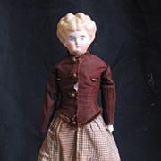"Wonderful 13"" stone bisque china in antique handmade costume."