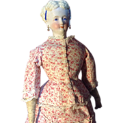"""15""""Conta and Boehme Parian china in Gorgeous antique promenade dress"""