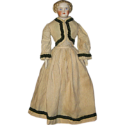 """19"""" Parian lady in fine wool costume"""