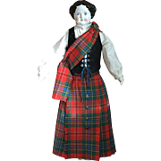 extra large china lady in perfect scottish attire