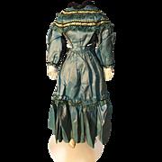 beautiful 16' antique shot silk china doll dress