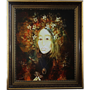 Hungarian Artist, Signed Miklós Farago mixed media on board Painting 'AUTUMN'
