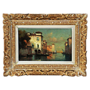 Oil on Canvas painting by French artist Antoine Bouvard Snr. 1870-1956