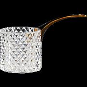 Vintage French cut crystal with brass handle Cigarette Dispenser holder