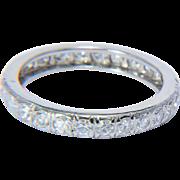 Estate diamond wedding band size 6 1/4