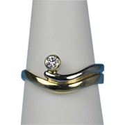 Vintage diamond 0.12 cwt solitaire engagement ring