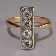 Vintage diamond 0.40 twc  engagement ring/ wedding ring