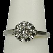 Estate solitaire 0.35 CT diamond engagement ring