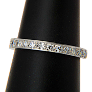 Art Deco diamond 0.80 tcw platinum wedding band US Size 6