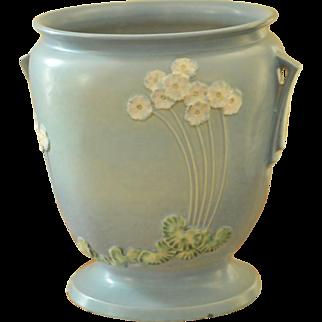 SALE Roseville Pottery Primrose Blue Sand Jar