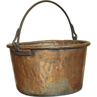 SALE Large Copper Candy Kettle