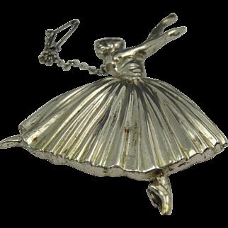Gorgeous art deco silver 925 large ballerina broach