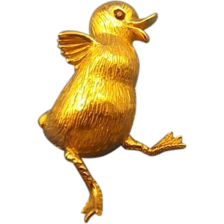 14k duck pin, The cutest little 14K gold ducking pin you ever did see.