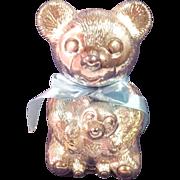Adorable Teddy Bear Bank - Silver Plated