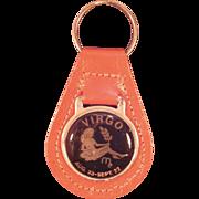 Vintage Virgo Key Chain