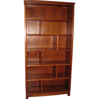 Chinese Rosewood Book Case