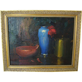 Exquisite Early California Still Life by Jean Mannheim (1863-1945)