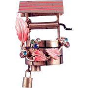 Wishing Well Brooch with Twin Buckets and Flowers - Book Reference