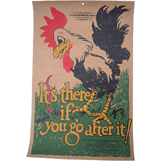 Large 1925 Color Advertising Print for Aetna Insurance Co.
