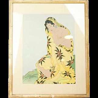 """1948 Paul Jacquolet """"The Dead Parakeet"""" Original Print"""