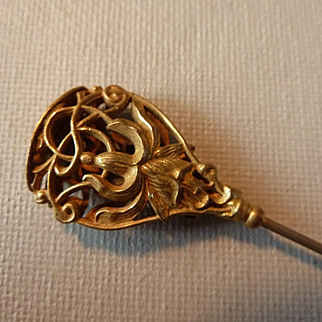 Ornate Art Nouveau Long Hat Pin