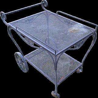 Salterini Wrought Iron Tea/Garden Serving Cart