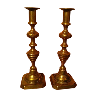 11 inch Pair Push-Up Candlesticks