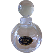 Vintage Lenox Optika Clear Crystal Round Perfume Bottle and Stopper