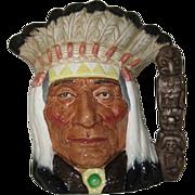 Royal Doulton North American Indian D6611 Large Character Jug