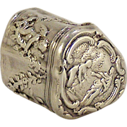 An 18th century silver Dutch vinaigrette, Anthony de Hoop, Amsterdam, 1780.