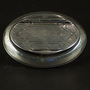 A rare and unusual Gorham coin silver tobacco box, very early triple mark, possibly Gorham and Thurber, Providence, Rhode Island, circa 1855
