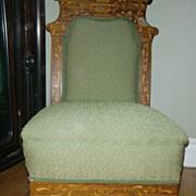 wonderful antique Dutch Empire style chair marquetry claw feet