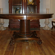 French Empire style claw feet round  table c.1880