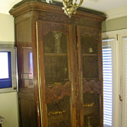 Antique French country double door huge armoire/ vitrine c. 1820