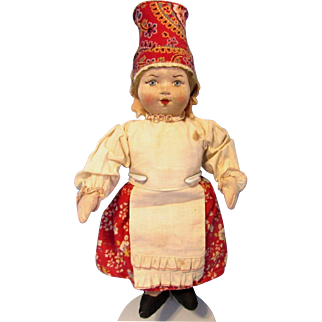 Russian Soviet Stockinette Cloth Doll