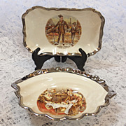 Lancaster Sandland Hanley England Dickens Story Characters Pin Trays - Bowls -Platinum Trim