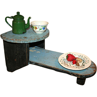 SALE Two Tier Stool in Original Paint 19thC